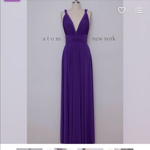 Royal Purple Floor Length Maxi